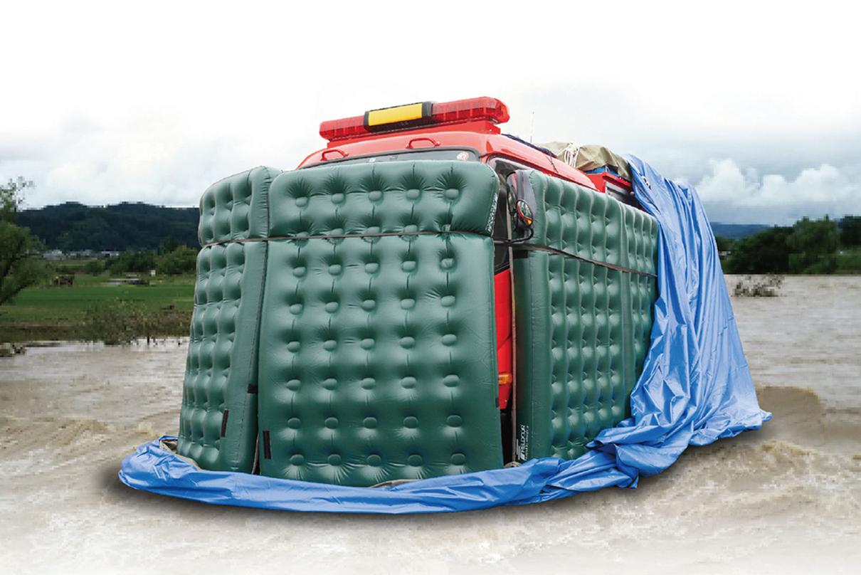 災害対策:車両浸水防止カバー カーパッくん