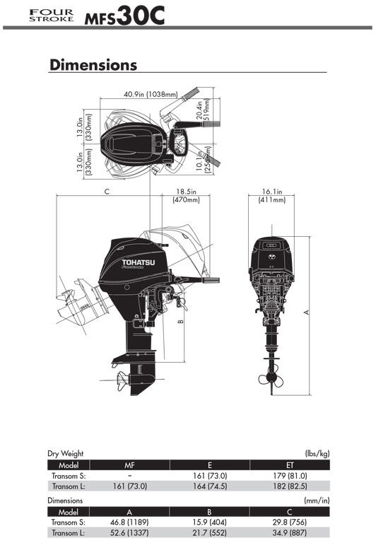 MFS30 | Mid range | OUTBOARDS | TOHATSU outboard motors