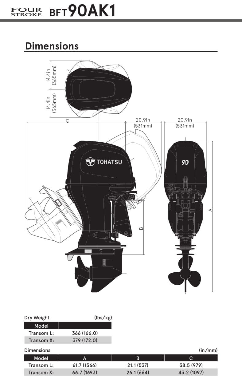 BFT90 | Mid range | OUTBOARDS | TOHATSU outboard motors